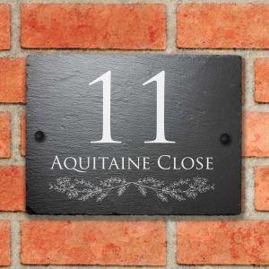 Rustic Slate House Sign Colwyn 15cm x 20cm