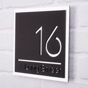 Modern House Sign 20cm x 20cm - Knightsbridge