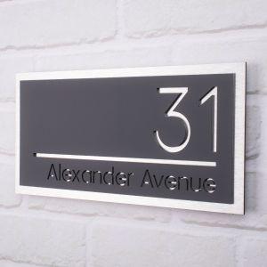 Modern House Sign 31cm x 15cm - Carnaby