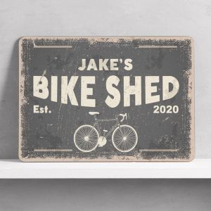 Personalised Bike Shed Sign