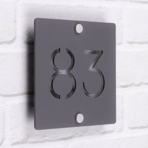 Laser Cut Acrylic House Number