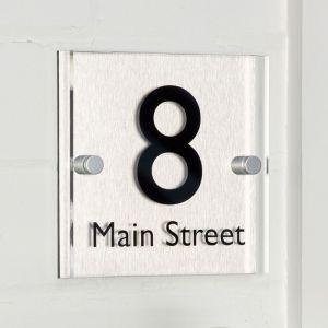 Acrylic & Aluminium House Sign 15cm x 15cm