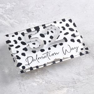 Dalmatian Animal Print House Sign Number