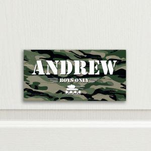 Army Personalised Bedroom Door Sign
