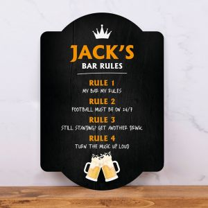 Bar Rules Bar Sign