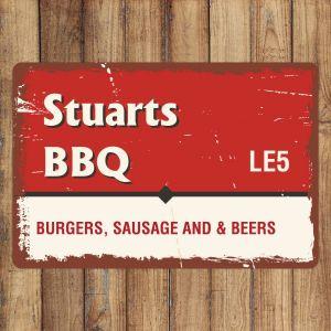 Personalised Vintage Metal BBQ Sign
