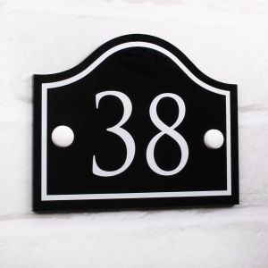 Bridge House Number - 11cm x 14cm
