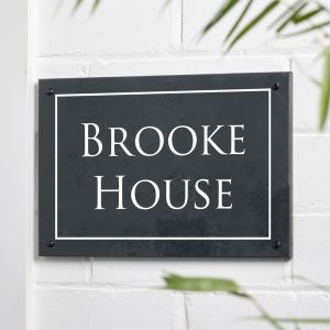 Engraved Slate House Sign 20cm 30cm - Ambleside