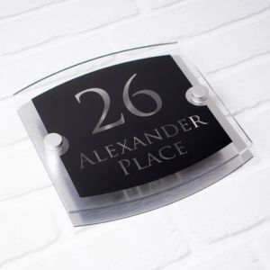 Alexander Modern Acrylic House Sign 20cm x 20cm