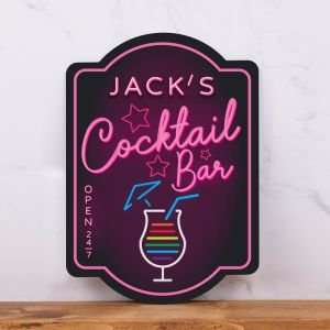 Personalised Neon Cocktail Bar Sign