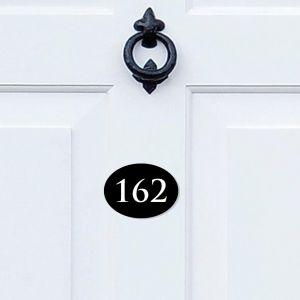 Oval Acrylic Door Number