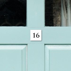 Square Acrylic Door Number