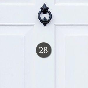 Round Acrylic Door Number