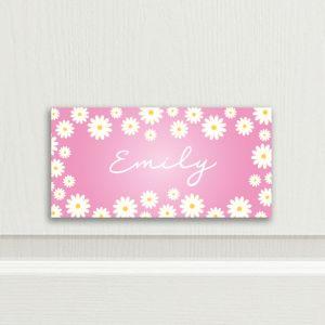 Flower Bedroom Door Sign