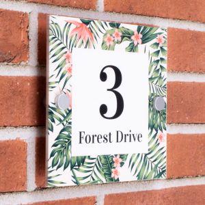Decorative House Sign 20cm x 20cm - Forest
