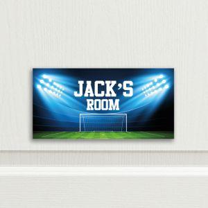 Football Stadium Bedroom Door Sign