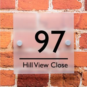 Oakley Frosted Acrylic House Sign 15cm x 15cm