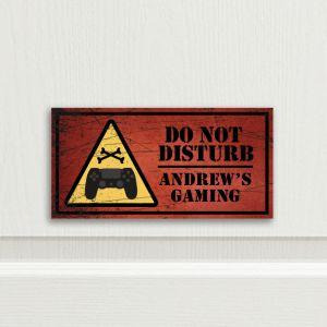Gaming Bedroom Door Sign