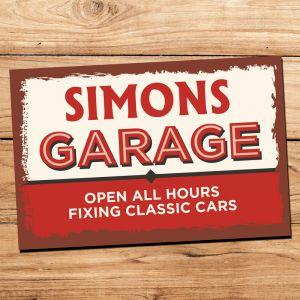 Personalised Vintage Garage Sign
