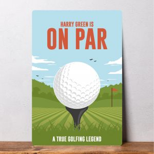 Personalised Golf Sign