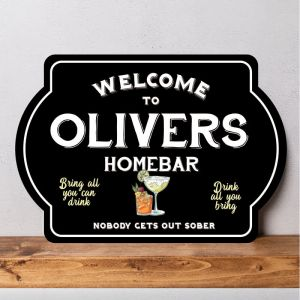Personalised Home Bar Sign
