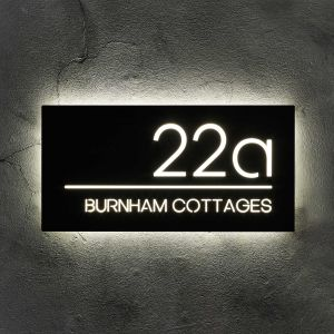 Illuminated House Sign 50cm x 25cm