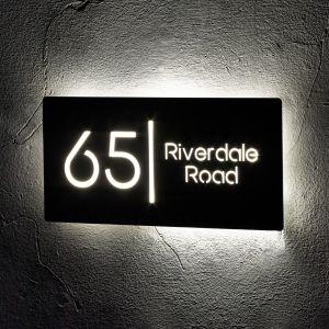 Illuminated House Signs Door Number 30cm x 15cm