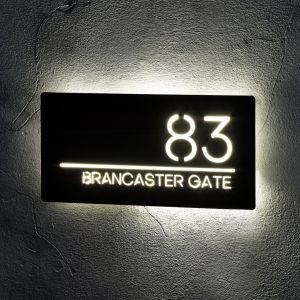 Illuminated LED House Signs Door Number
