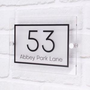 Acrylic House Sign 20cm x 14cm - Kirby