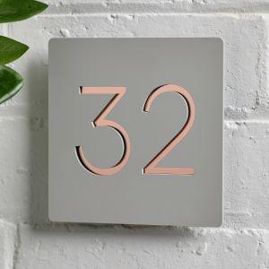 20cm x 20cm Modern Contemporary Acrylic House Sign - Amalfi