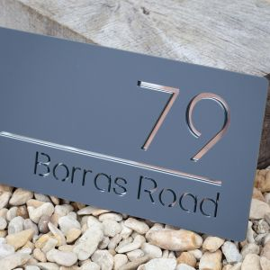 Modern Contemporary Floating Acrylic House Sign.