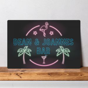 Personalised Neon Bar Sign