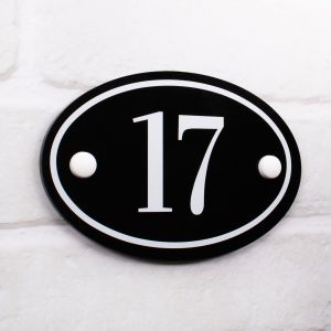 Oval House Number - 15cm x 10cm