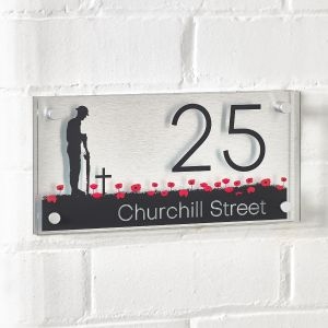 Lone Soldier House Sign 30cm x 15cm
