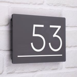 Contemporary Modern Acrylic House Sign 20cm x 14cm - Piazza
