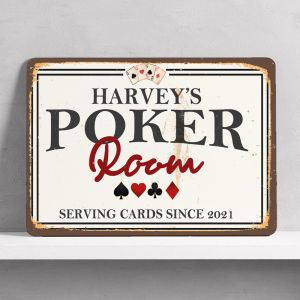Personalised Poker Room Sign
