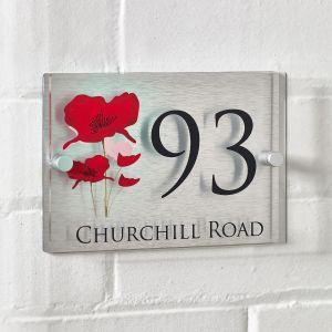 Poppy House Sign