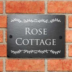 Rustic Slate House Sign Ferndale 15cm x 20cm