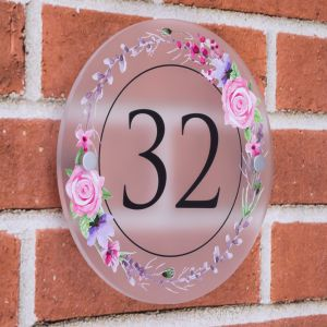 Rose Circle Decorative Acrylic House Sign 20cm x20cm
