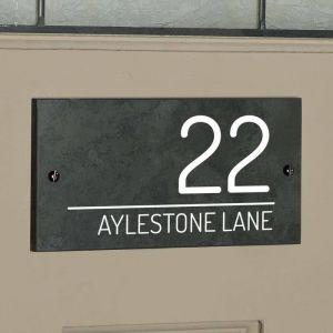Bayswater Slate House Sign 10cm x 20cm