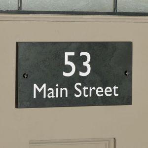 Slate House Sign 10cm x 20cm