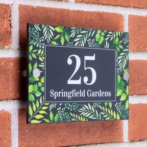 Decorative House Sign 14cm x 20cm - Springfields