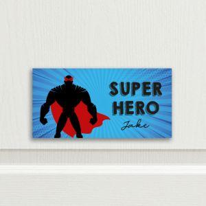 Super Hero Bedroom Door Sign