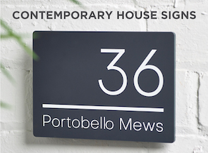 Contemporary House Signs