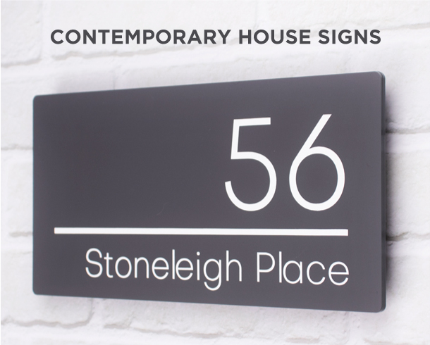 Frosted House Signs 2